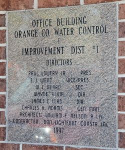 Bolivar Street Office Dedication Plaque