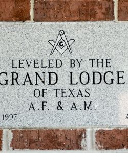 Bolivar Location Leveled By The Grand Lodge Of Texas A.F. & A.M.