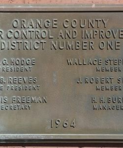 Original Bolivar Street Office Dedication Plaque
